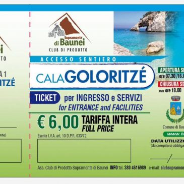Il ticket di Goloritzé